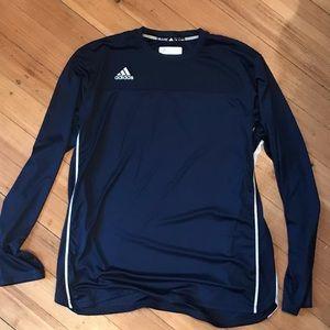 Adidas navy blue long sleeve shirt size xl